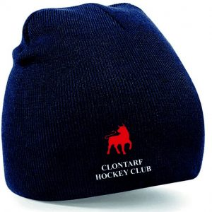 Navy Beanie Hat with Clontarf Hockey Club Logo
